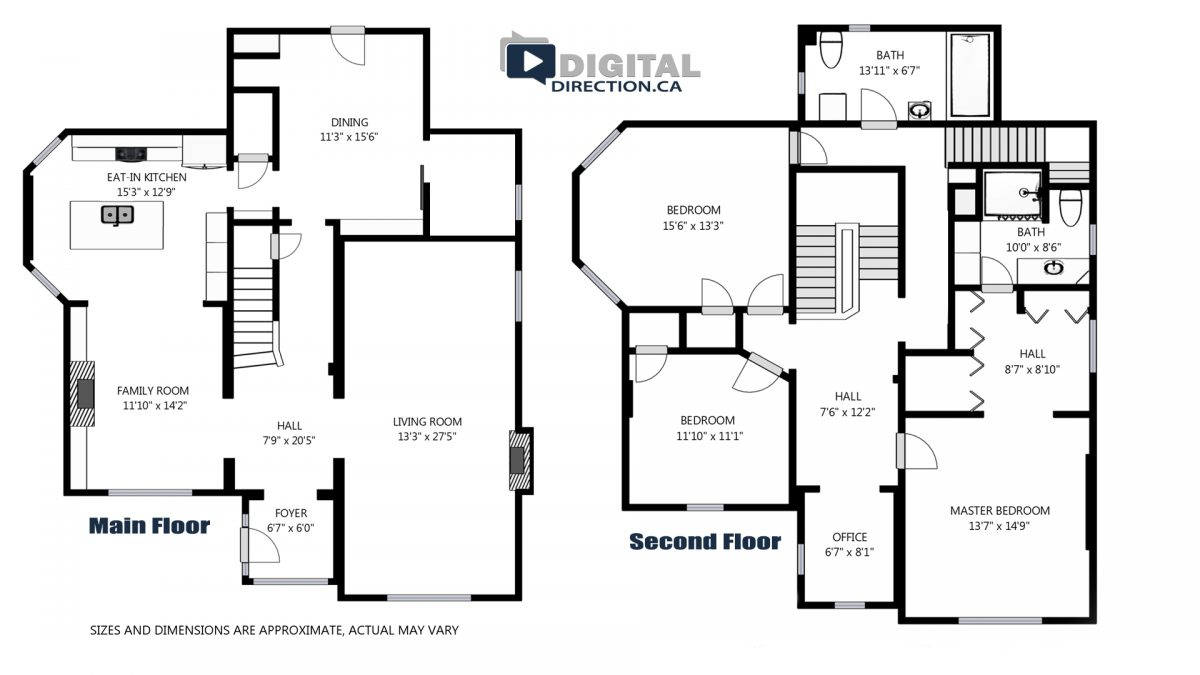 2 Story Real Estate Floor Plan